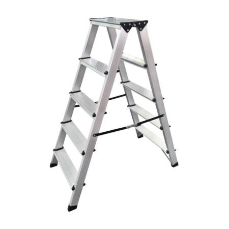 5S Bockleiter Aluminium 5 Stufen