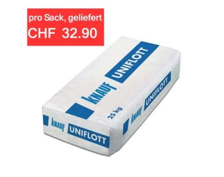 Gips Spachtelmasse Uniflott Knauf (1 Palette 42x25kg)
